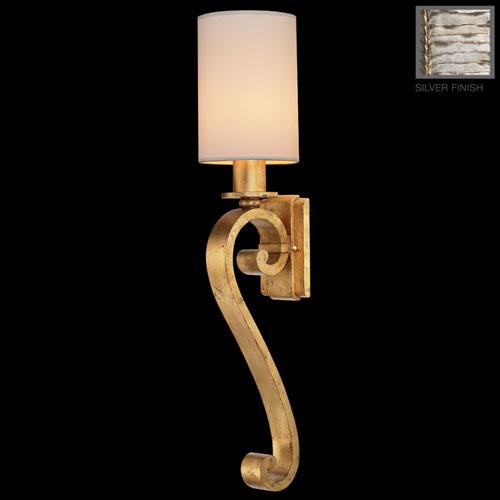 Fine Art Lamps Portobello Road One-Light Wall Sconce in Platinized Silver Finish