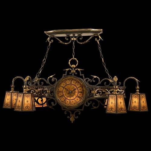 Fine Art Lamps Epicurean Six-Light Chandelier in Charred Iron Finish