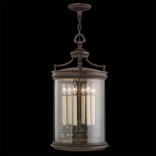 Fine Art Lamps Louvre Six-Light Outdoor Lantern in Bronze Finish