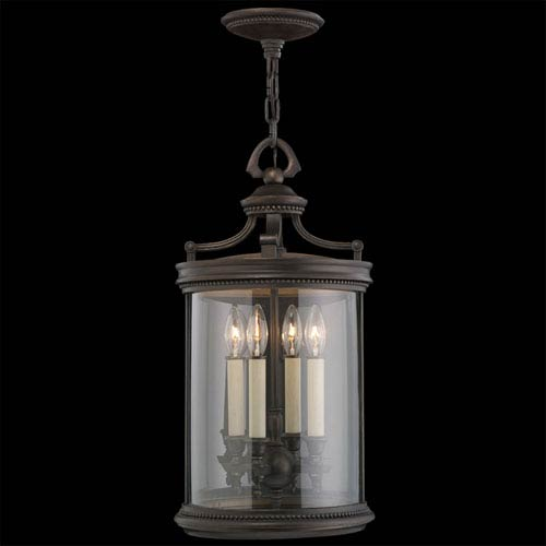 Fine Art Lamps Louvre Four-Light Outdoor Lantern in Bronze Finish