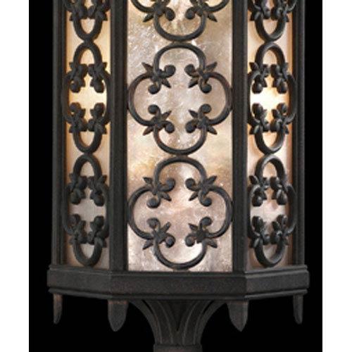 fine art lamps costa del sol three light outdoor post mount in