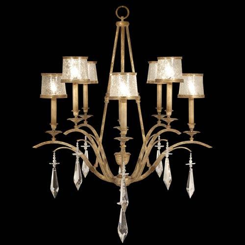 Fine Art Lamps Monte Carlo Eight-Light Chandelier in Gently Worn Gold Leaf Finish