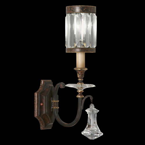 Fine Art Lamps Eaton Place One-Light Wall Sconce in Rustic Iron Finish