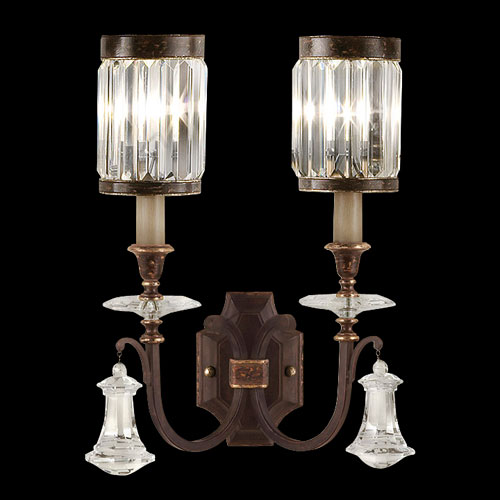 Fine Art Lamps Eaton Place Two-Light Wall Sconce in Rustic Iron Finish