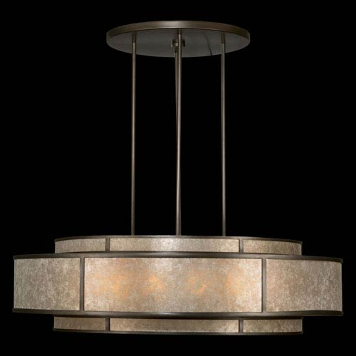 Fine Art Lamps Singapore Moderne 12-Light Pendant in Brown Patinated Bronze Finish