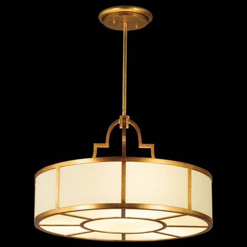 Fine Art Lamps Portobello Road Eight-Light Pendant in Dore Gold Finish
