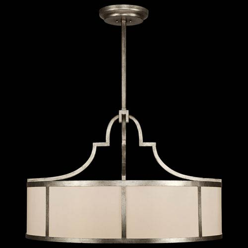Fine Art Lamps Portobello Road Eight-Light Pendant in Platinized Silver Finish