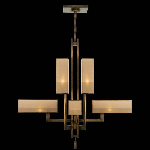 Perspectives Eight-Light Chandelier in Patinated Golden Bronze Finish