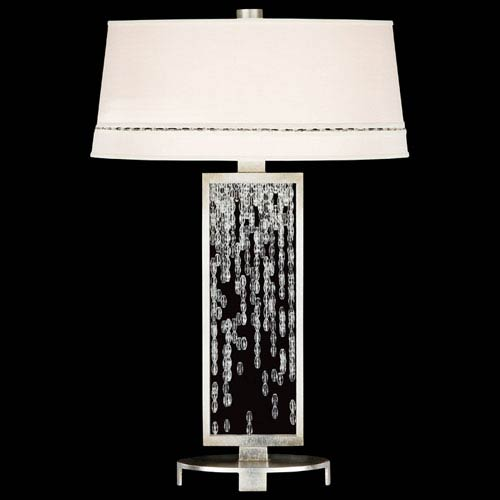 Cascades One-Light Table Lamp in Warm Silver Leaf Finish