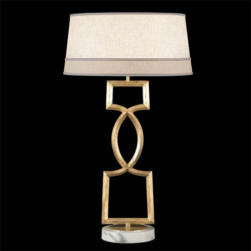 Allegretto One-Light Table Lamp in Burnished Gold Leaf Finish
