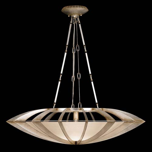 Fine Art Lamps Staccato One-Light Pendant in Toned Silver Leaf Finish
