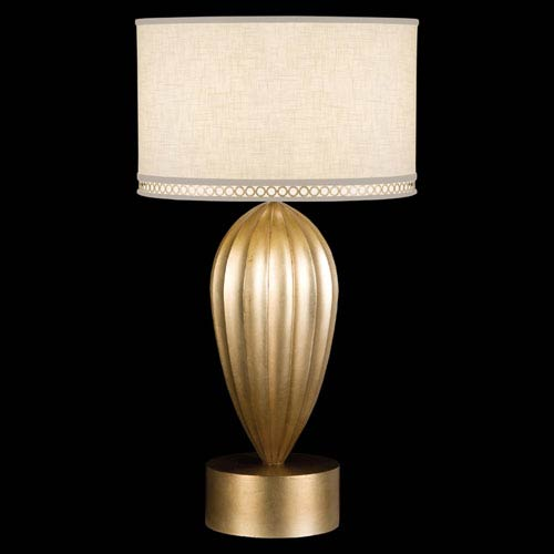 Fine Art Lamps Allegretto One-Light Table Lamp in Burnished Gold Leaf Finish