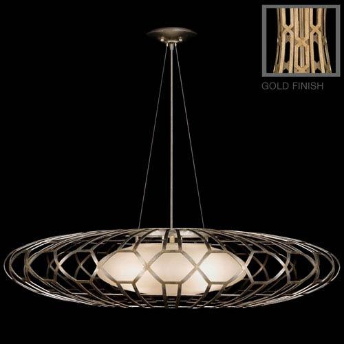 Fine Art Lamps Allegretto Gold Three-Light Pendant