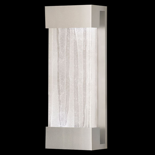 Fine Art Lamps Crystal Bakehouse Two-Light Wall Sconce in Silver Finish with Handcrafted, Polished Block of Crystal Shards