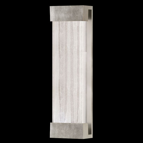 Crystal Bakehouse Two-Light Wall Sconce in Silver Leaf Finish with Handcrafted, Polished Block of Crystal Shards