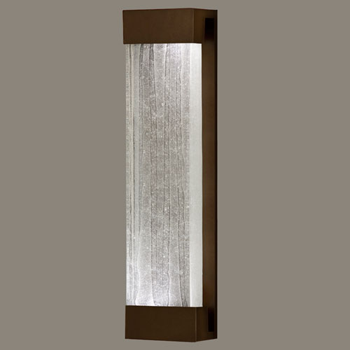 Fine Art Lamps Crystal Bakehouse Two-Light Wall Sconce in Bronze Finish with Handcrafted, Polished Block of Crystal Shards