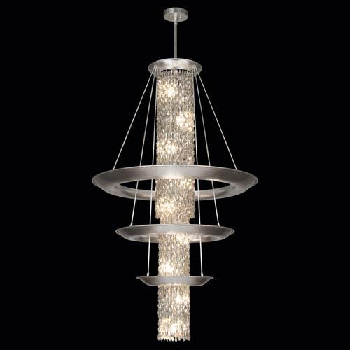 Fine Art Lamps Celestial 21-Light Pendant in Silver Leaf Finish