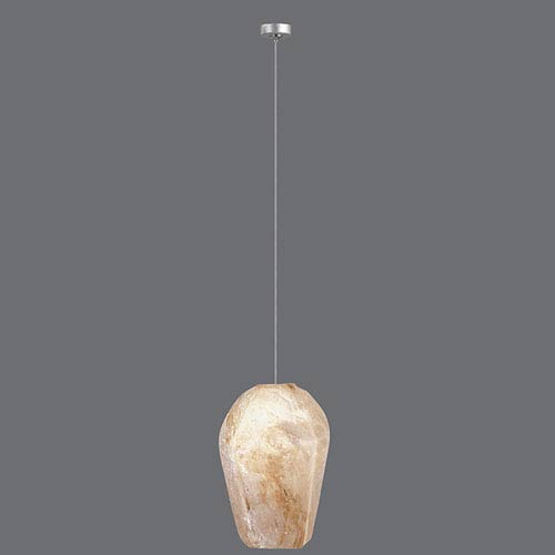 Natural Inspirations Silver Leaf One-Light  4-Inch Pendant