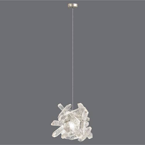 Natural Inspirations Gold-Toned Silver Leaf One-Light  4-Inch Pendant