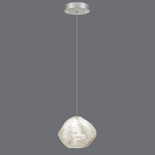 Natural Inspirations Silver Leaf One-Light  5.5-Inch Pendant