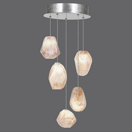 Fine Art Lamps Natural Inspirations Silver Leaf Five-Light  12-Inch Pendant