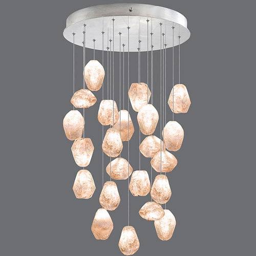 Natural Inspirations Silver Leaf 22-Light  24-Inch Pendant