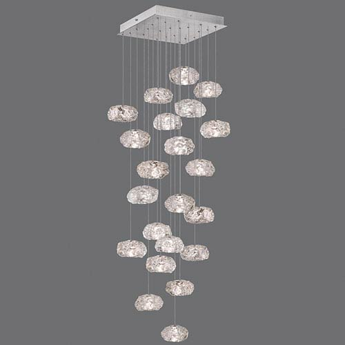 Natural Inspirations Silver Leaf 22-Light  24-Inch Pendant