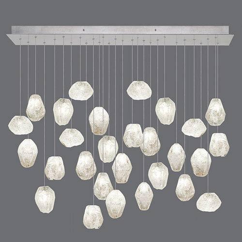 Natural Inspirations Silver Leaf 28-Light  54-Inch Pendant