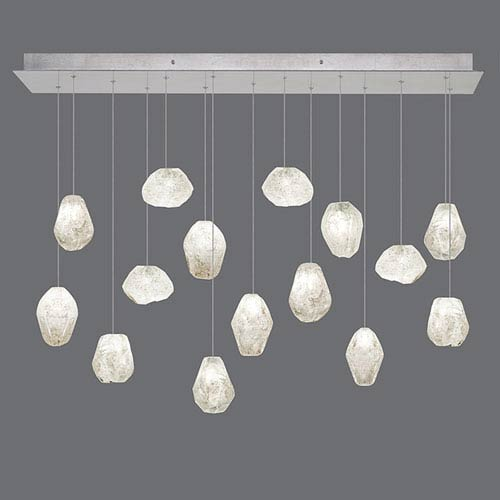 Natural Inspirations Silver Leaf 15-Light  48-Inch Pendant