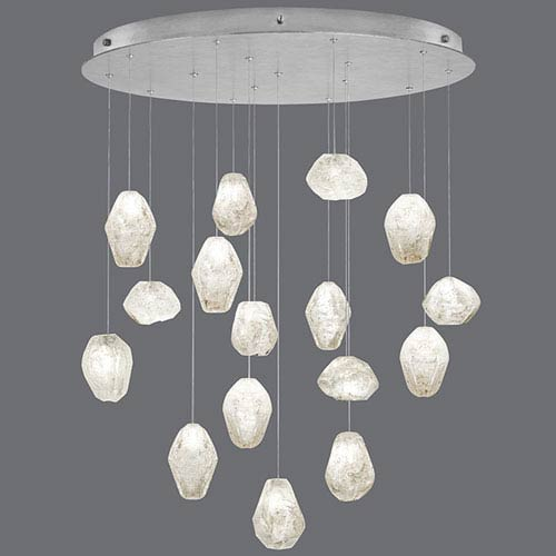 Natural Inspirations Silver Leaf 16-Light  32-Inch Pendant
