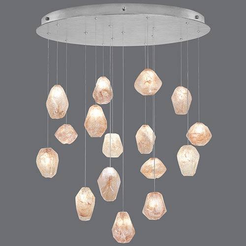 Natural Inspirations Silver Leaf 16-Light  32-Inch Pendant