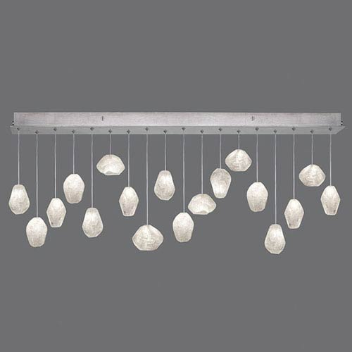 Natural Inspirations Silver Leaf 18-Light  54-Inch Pendant
