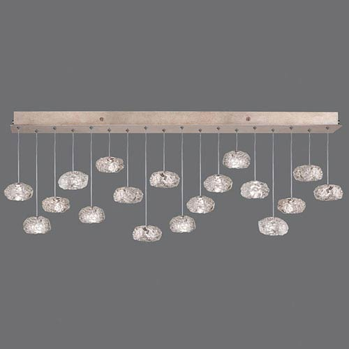 Natural Inspirations Gold-Toned Silver Leaf 18-Light  54-Inch Pendant