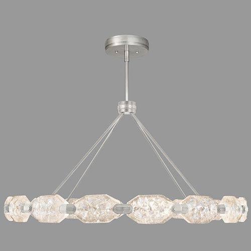 Allison Paladino Silver Leaf 32-Light LED 24-Inch Pendant