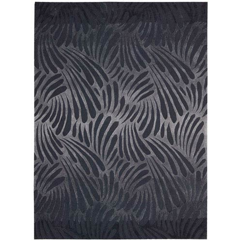 Nourison Contour Charcoal Rectangular: 5 Ft. x 7 Ft. 6 In. Rug