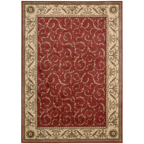 Nourison Somerset Red Rectangular: 5 Ft. 6 In. x 7 Ft. 5 In. Rug