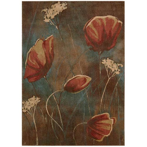 Nourison Somerset Multi-Colored Rectangular: 5 Ft. 6 In. x 7 Ft. 5 In. Rug