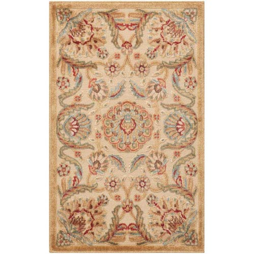 Graphic Illusions Beige Rectangular: 2 Ft. 3 In. x 3 Ft. 9 In. Rug