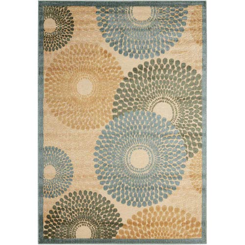 Graphic Illusions Teal Rectangular: 2 Ft. 3 In. x 3 Ft. 9 In. Rug