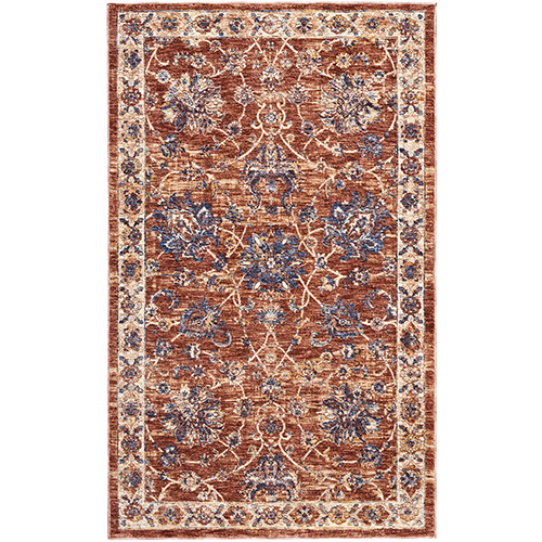 Reseda Brick Rectangular: 3 Ft. x 5 Ft. Rug