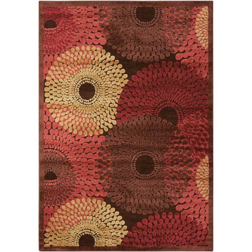 Graphic Illusions Brown Rectangular: 1 Ft. 9 In. x 2 Ft. 9 In. Rug