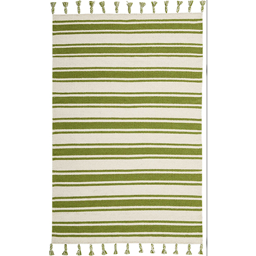 Solano Ivory and Green Rectangular: 4 Ft. x 6 Ft. 6 In. Rug