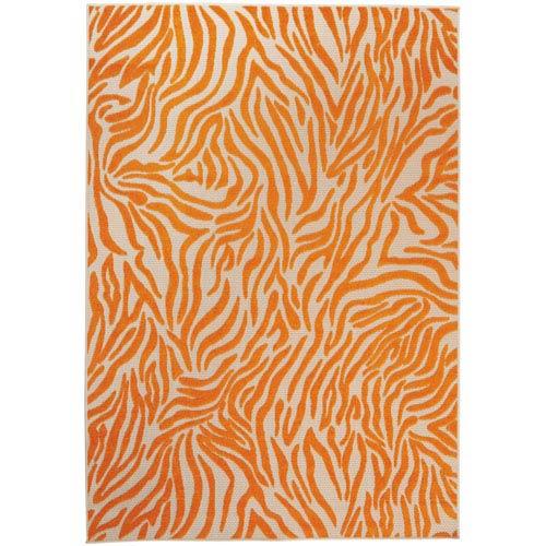 Nourison Aloha Orange Indoor/Outdoor Rectangular: 9 Ft. 6 In. x 13 Ft. Rug