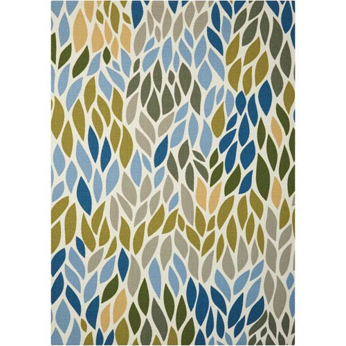 Nourison Home and Garden Multicolor Indoor/Outdoor Rectangular: 4 Ft. 4 In. x 6 Ft. 3 In. Rug