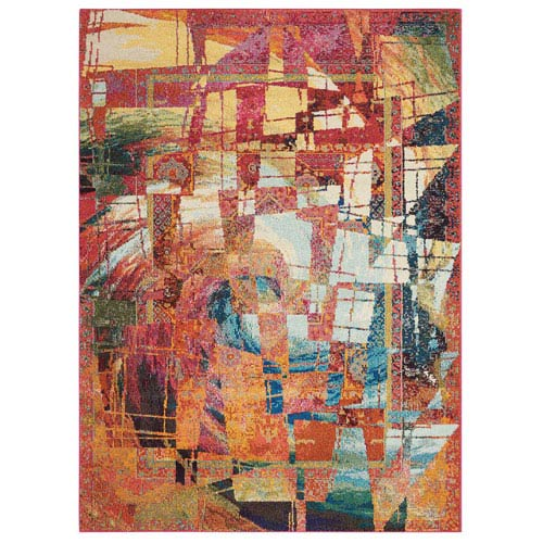 Celestial Stained Glass Rectangular: 3 Ft. 11 In. x 5 Ft. 11 In. Rug