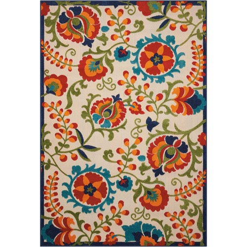 Aloha Multicolor Indoor/Outdoor Rectangular: 3 Ft. 6 In. x 5 Ft. 6 In. Rug