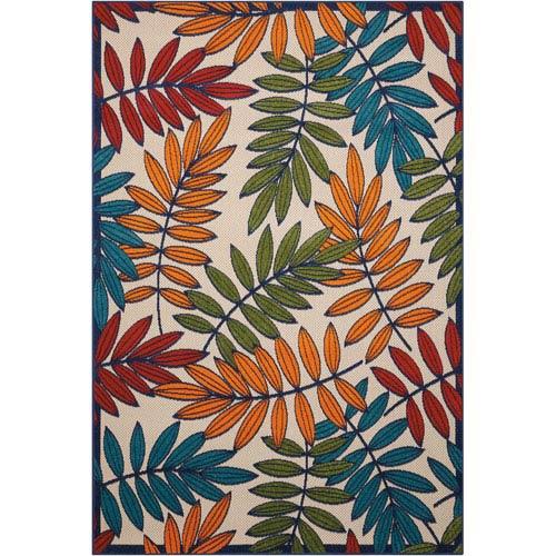 Aloha Multicolor Indoor/Outdoor Rectangular: 3 Ft. 6 In. x 5 Ft. 6 In. Rug