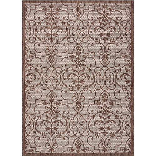 Garden Party Natural Indoor/Outdoor Rectangular: 5 Ft. 3 In. x 7 Ft. 3 In. Rug