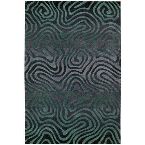 Nourison Contour Smoke Teal Rectangular: 5 Ft. x 7 Ft. 6 In. Rug