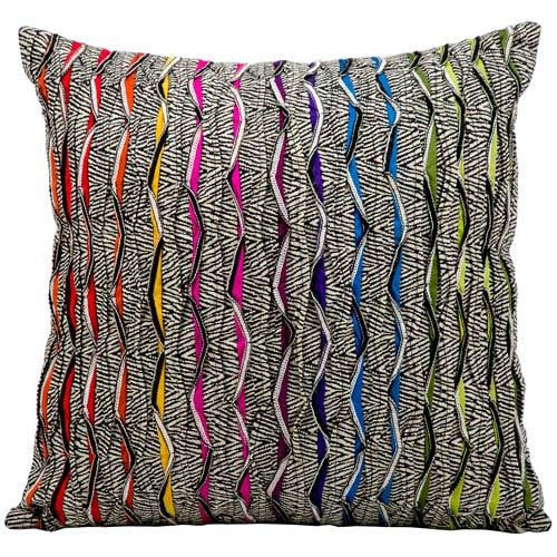 Multicolor 17-Inch Decorative Pillow
